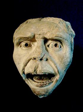Masque de gargouille,Palais du Tau,statue déposée de la cathédrale de Reims,XIIIème siècle | image domaine public