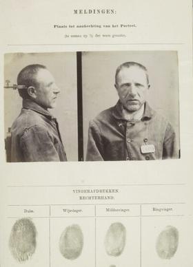 Signalementkaart Veenhuizen opname 17 augustus 1896