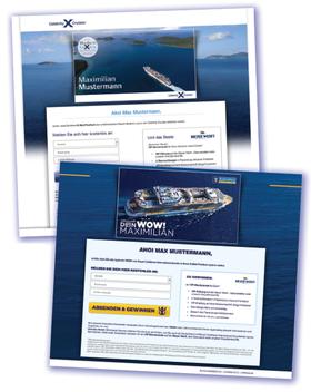 RCL Cruises Fallstudie - Gewinnung von Newsletterabonnenten