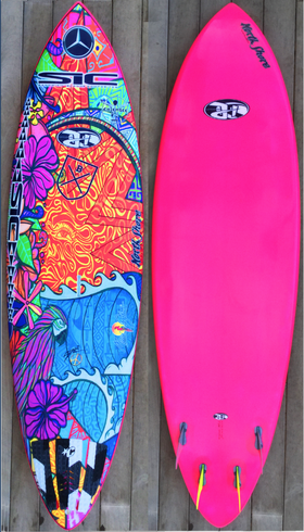 Sonnis new pintail sup 8.0 x 26 for more powerful waves Innegra, Entropy plant base epoxy, Sonnis art inlay, handcrafted by Jürgen