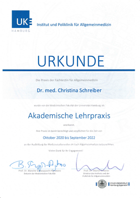 Venen Kompetenz-Zentrum Zertifikat
