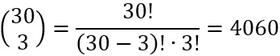 Weiteres Beispiel für den Binomialkoeffizienten