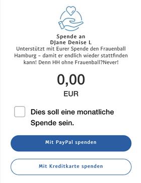 Jetzt den Frauenball mit Deiner Spende (Betrag Deiner Wahl) unterstützen!