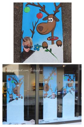 Déco Noël vitrines rennes