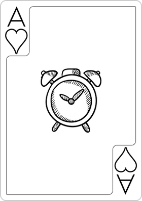 Back to School Themed Playing Cards Deck - Ink saver (ideal for coloring) - www.my-thematic-playing-cards.com
