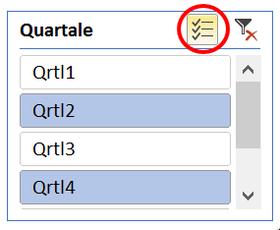 Excel 2016 Pivot Slicer mit Mehrfachauswahl