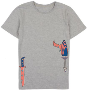 CORAL ARMED T SHIRT