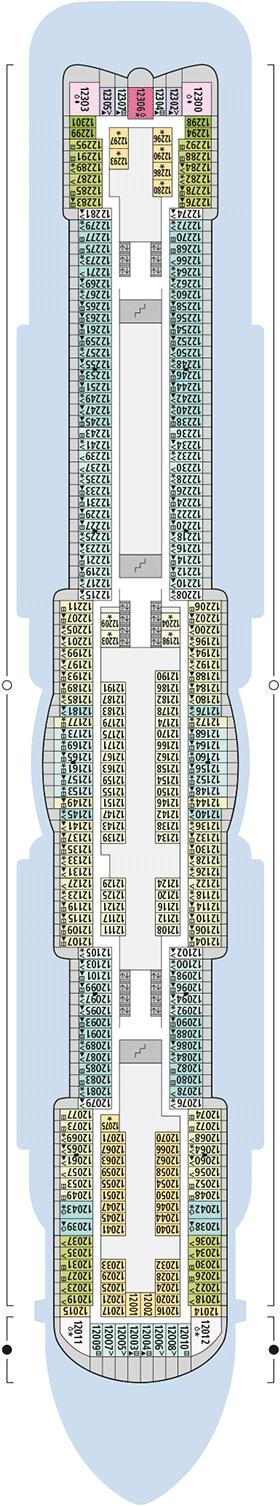 AIDAnova Deck 12 | © AIDA Cruises