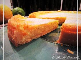 Tarte aux éclats de citron jaune et vert à la ricotta