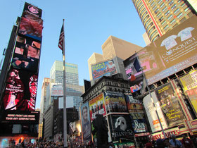 Times Square am Morgen