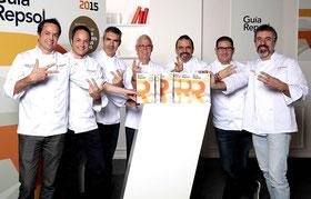 Guía Repsol ギア・レプソル 2015にて新たに太陽マーク3つを獲得したシェフたち (www.diariodegastronomia.com)