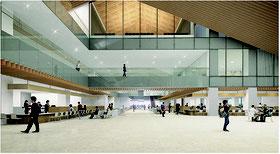 石垣市新庁舎内部のイメージ図