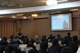 八田與一について熱く語る古川勝三先生