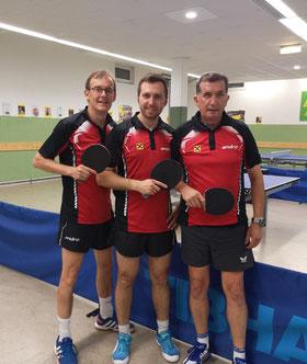Norbert Mach, Christopher Stranzl und Siegfried Föllerer sind Sierndorf 2 in der Unterliga.