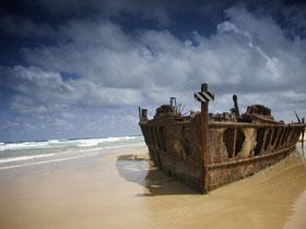 Schiffswrack auf Fraser Island.