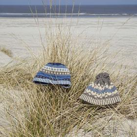 Wolle Schafwolle Mütze Strand Nordsee