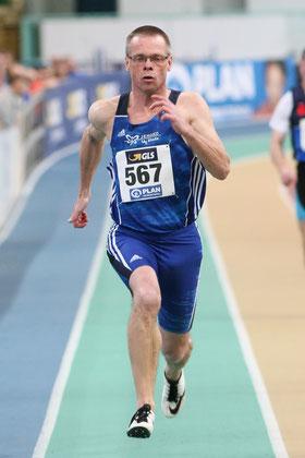 In 25,06 Sekunden qualifizierte sich Reiner Heweling als Fünftschnellster für das 200-m-Finale.