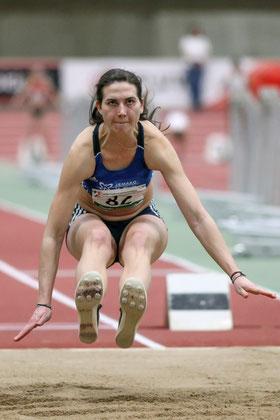 Mit 13,28 Metern landete Klaudia Kaczmarek bei den Deutschen Hallenmeisterschaften auf einen hervorragenden vierten Rang.
