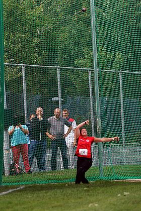 Die Deutsche Meisterin Carolin Paesler warf in einer eigenen Liga. (Foto: Bernfried Knipping)