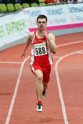 Das Foto von Roman Buhl zeigt den LAZ-Neuzugang Simon Heweling (bisher Weseler TV), der bereits sechs Medaillen bei Deutschen Meisterschaften erringen konnte und dabei auch für die StG Rhede-Sonsbeck-Wesel lief.