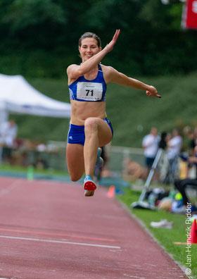 Klaudia Kaczmarek erreichte ihre 13. Endkampfplatzierung bei Deutschen Meisterschaften im Dreisprung der Frauen. (Foto: Jan-Hendrik Ridder)