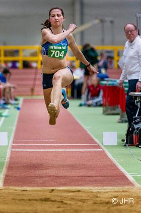 Klaudia Kaczmarek zeigte zuletzt im Training sehr gute Leistungen und könnte  13,50m springen. (Foto: Jan-Hendrik Ridder)