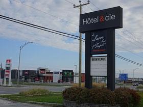 Urlaub in Quebec: Blick aus dem Hotel & cie am Stadtrand von Sainte-Anne-des-Monts.