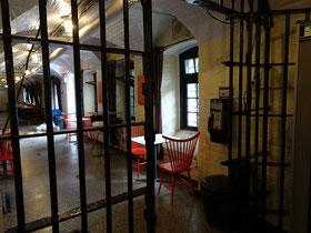 Urlaub in Ottawa: Blick in den Frühstücksraum der Gefängnis-Herberge.