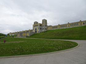 R.C. Harris Water Treatment Plant: Blick auf den oberen Teil der Anlage, der die Filterbecken beherbergt.