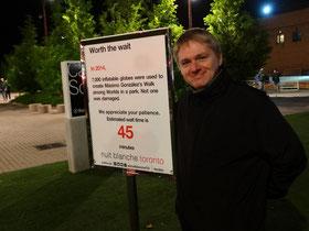 Nuit Blanche 2015: Schlange stehen gehört dazu.