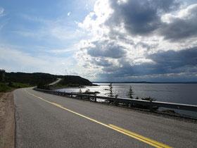 Urlaub in Neufundland: Uferstrasse zwischen Glovertown und Salvage.