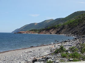 Am Cabot Trail im Cape Breton Highlands National Park in Nova Scotia.