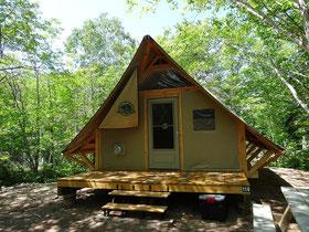 Übernachten im Nationalpark: Das oTENTik ist eine verblüffend komfortable Mischung aus Zelt und Hütte.