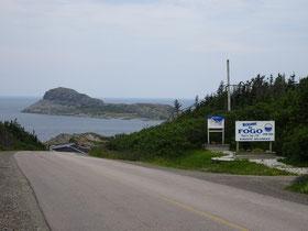 Attraktion auf Fogo Island: Der Brimstone Head Felsen vor den Toren der Gemeinde Fogo.