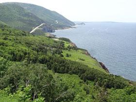 Cape Breton Highlands National Park: Blick auf den westlichen Teil des malerischen Cabot Trails.