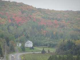 Urlaub in Quebec: Herbstliche Fall Colors (Indian Summer) am Nordeingang zum Parc national du Lac Temiscouata.