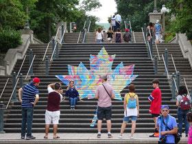 Urlaub in Ottawa: Treppe Richtung Major's Hill Park.