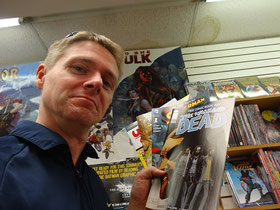 """Free Comic Book Day in Toronto: Hier habe ich eine Leseprobe von """"The Walking Dead"""" abgegriffen."""