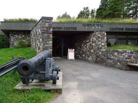 Urlaub in Neufundland: Eingang zu  Castle Hill, der National Historic Site vor den Toren von Placentia.