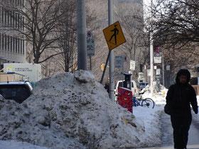 Winter in der Innenstadt von Toronto.