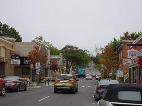 Urlaub in Quebec: Szene aus der Innenstadt von Riviére-du-Loup. Der Parc des Chutes ist gleich nebenan.