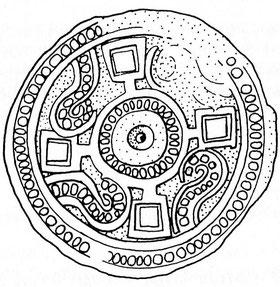 frühmittelalterliche Scheibenfibel aus Derdingen