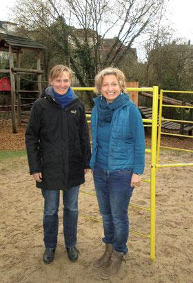 Birte Schlesselmann und Kathrin Wetzler, die Leitung des Philippshauses (re) Foto: Ines Dietrich