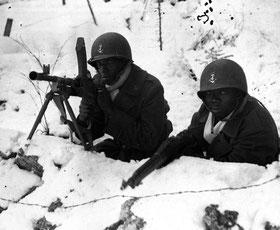 Boucle du Doubs, Nordfrankreich, Oktober 1944, Afrikanische Kolonialsoldaten beim Winterfeldzug (Quelle: S.I.R.P.A.)