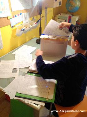 como organizar el material escolar - AorganiZarte.com
