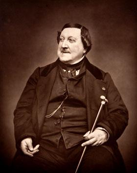 Gioacchino Rossini, in una foto di Étienne Carjat del 1865
