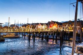 beachtenswert fotografie, Fotokunst, Nordfriesland, Hafen, Husum, blaue Stunde, Abend in Husum