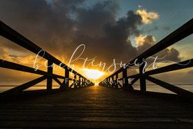 beachtenswert fotografie, Steg, Husum, Schobüll, Sonnenuntergang, Nordfriesland