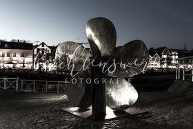 beachtenswert fotografie, Fotokunst, Nordfriesland,  Husumer Hafen, Schiffschraube, Abend, blaue Stunde