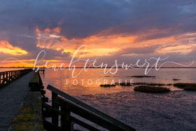 beachtenswert fotografie, Fotokunst, Nordfriesland,  Schobüll, Wattenmeer, Farbenrausch, Abendstimmung
